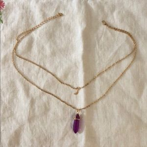 Jewelry - Crystal moon layered necklace